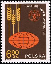 Polska Poland 1981 Fi 2628 Mi 2776 MNH Światowy Dzień Żywności