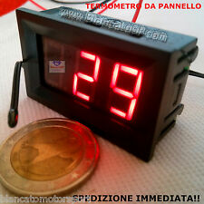 TERMOMETRO DIGITALE DA PANNELLO LED ROSSO -30 +70 ℃ DC auto moto camper modding