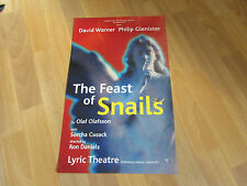 THE FEAST OF SNAILS by Olaf Olafsson LYRIC Theatre Poster