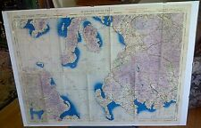 WORLD WAR II RAF MAP OF SOUTH WEST SCOTLAND