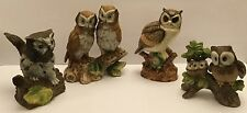 Collection of 4 Ceramic Owls