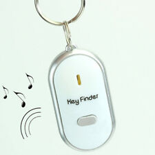 LED Key Locator Find Lost Key Ring Finder Chain Keychain Whistle Sound Control