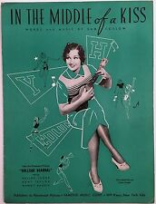 """1935 """"COLLEGE SCANDAL"""" MOVIE SHEET MUSIC """"IN THE MIDDLE OF A KISS"""" ARLINE JUDGE"""