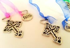 60 Religious Metal Cross Hope Charm Bookmarks bible school favors Wholesale lot