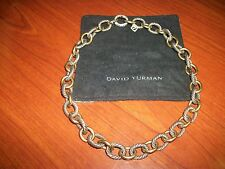 David Yurman Large Oval Link Gold & Silver Chain Necklace