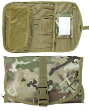 British Army Combat Zip Compact Hanging BTP Camo Travel Shave Wash Kit Roll Bag