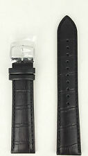 Seiko Black Leather Calf E 20mm Watch Strap SUR009 Watchband 6N76 00A0 7T92 7N42