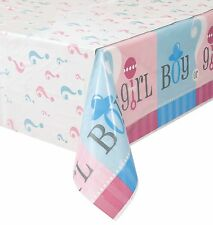 "54""x108"" Boy Or Girl Baby Shower Gender Reveal Party Plastic Table Cover"