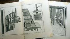 Encyclopédie Diderot D'Alembert 2 Planches in-fol IMPRESSION ÉTOFFES LAINE 18e s