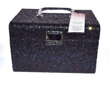 Victoria's Secret Black Glitterati Fashion Show Large Train Case GORGEOUS NWT