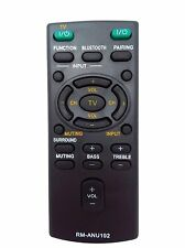 New RM-ANU192 REMOTE For SONY Sound Bar SS-WCT60 SS-WCT60 HT-CT60 SACT60