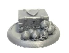 Knights Chest Skull Pile 40mm Base 3D Printed Miniature D&D Terrain
