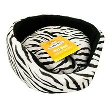 Zebra Print Super Soft Luxury Comfy Dog Puppy Cat Pet Bed Removable Cushion
