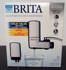 Brita Faucet Mount Filtration System Includes One System 2 Filters NEW OPEN BOX