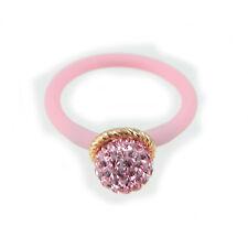 LE CORONE anello bollicine rosa castone argento dorato gambo rosa