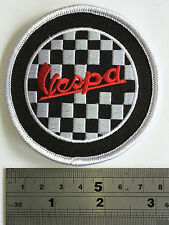Vespa Check Patch - Embroidered - Iron or Sew On