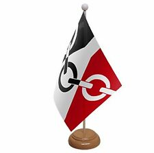 "BLACK COUNTRY Table Flag with Wooden base & pole 9""x6"" West Midlands UK FLAGS"