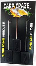 CARP CRAZE Fine Lip Close / Splicing Needle Leadcore Rig Making pack of 3, £2.99