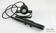 Brinyte DIV10W XM-L2 6 * LED 4500lm Diving Flashlight Canister Scuba Video Photo