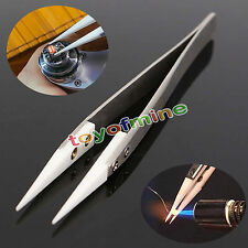 Ceramic Tipped Stainless Steel Tweezers Fine Pointed Tip Heat Resistant