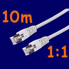 °Netzwerk-Kabel Patchkabel FTP CAT5e 1:1 grau 10m°