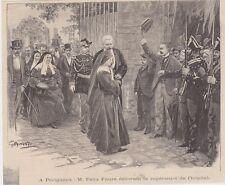 1895  --  PERIGUEUX  FELIX FAURE DECORANT LA SUPERIEURE DE L HOPITAL   3J018