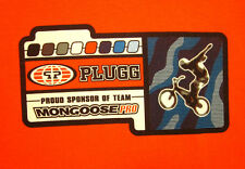 MONGOOSE PRO BICYCLES med orange T shirt Plugg BMX Bike extreme cycling logo