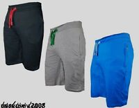 New Mens GYM Plain Jersey Summer Shorts Light weight Baggy Fit with Zip Pockets