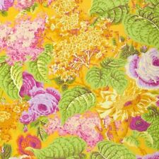 Rowan Philip Jacobs Lilac Floral Cotton Fabric PWPJ068-Yellow BTY