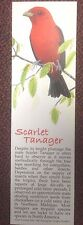 "Book Marker, Scarlet Tanager, Wildlife Collectibles, 7"" x 2"", Beautiful Colors"