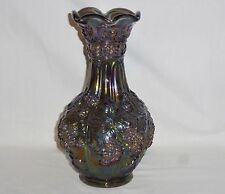 """Imperial Carnival Glass Smoke Loganberry Vase (10 1/4"""")"""