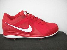 NEW~NIKE~PRO~MVP~BASEBALL~CLEATS~SHOES~SNEAKERS~SIZE 13~RED~524641 610