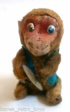 Vintage 1950' Wind-Up Tin Fur Monkey Cymbals Drums Tin Toy JAPAN