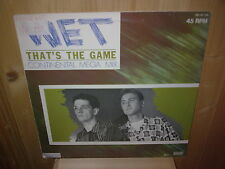 "WET that's the game 12"" MAXI 45T Continental  Mega mix"