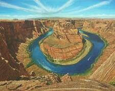STUNNING ORIGINAL HARPUM M.A Camb Horseshoe Bend Colorado River Arizona PAINTING