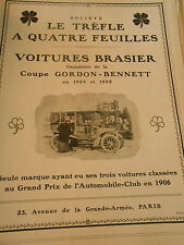 Pub Voitures Brasier Coupe Gordon Bennett Print 1906