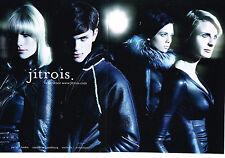 PUBLICITE  2010   JITROIS  collection vetements cuir (2 pages)