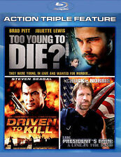 TOO YOUNG TO DIE / DRIVEN TO KILL / THE PRESIDENT'S MAN 3-MOVIE BLU RAY DISC