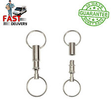 Detachable Pull Apart Quick Release Keychain Key Rings with Two Split Rings