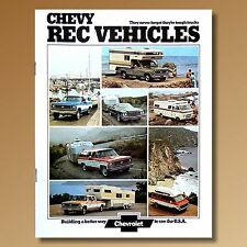 1974 Chevrolet Recreational Vehicles Brochure Van Camper Truck 2683 NOS Original