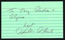 William Atherton signed autograph 3x5 index card American Film, Stage & TV Actor