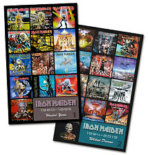 "IRON MAIDEN twin pack discography magnet set (two 4.75"" x 3.75"" magnets)"