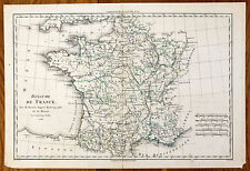 Carte ancienne BONNE antique map 1786 FRANCE ROYAUME Normandie Berry Gascogne