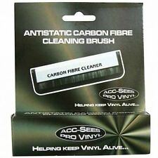 Acc-Sees antistatico in fibra di carbonio vinile RECORD CLEANING BRUSH * NUOVO *