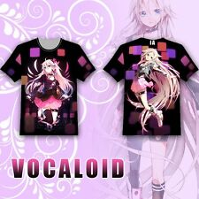 Anime VOCALOID IA T-shirt Tee Tops Summer Short Sleeve Multicolor Loli Lovely