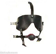 Ball Gag Blinder Head Harness. Bondage, Fetish, Erotic, Fancy Dress 280