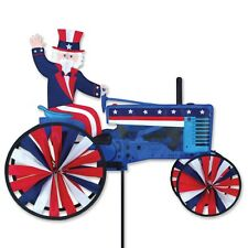 Uncle Sam on a Patriotic Tractor Staked Wind Spinner with Pole & Mount PR 25938