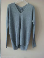 NWT $345 VINCE HST Grey Double V neck 100% Cashmere Sweater Size XS