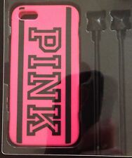Victoria's Secret PINK iPhone 5/5S Cover Case & Ear Bud GIFT SET -  NEW HOT PINK