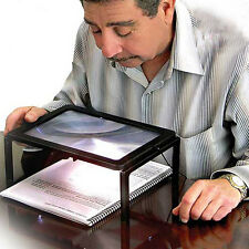 New Large Magnifier Hands Free Magnifying Glass With LED Light For Reading Tool